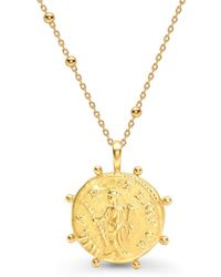 Missoma - Lucy Williams X Beaded Coin Necklace - Lyst