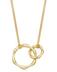 Missoma | Double Molten Necklace On Plain Chain | Lyst