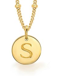 Missoma - Gold 's' Initial Necklace - Lyst
