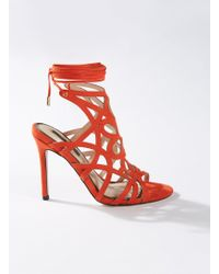 Miss Selfridge Coral Hun Caged Stiletto Heeled Sandals