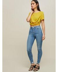 Miss Selfridge - Lizzie High Waist Skinny Light Blue Jeans - Lyst