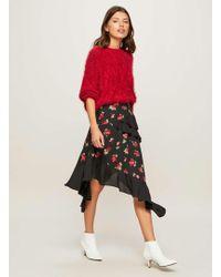 Miss Selfridge   Floral Hanky Hem Skirt   Lyst