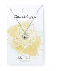 Miss Selfridge - Solar Chakra Crystal Necklace - Lyst