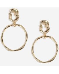 Miss Selfridge - Gold Look Organic Drop Earrings - Lyst