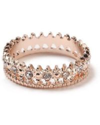 Miss Selfridge - Rhinestone Set Ring - Lyst