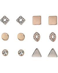 Miss Selfridge - Six Pack Shaped Earrings - Lyst
