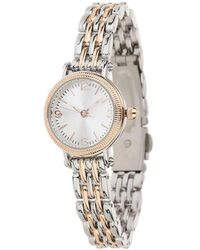 Miss Selfridge - Silver And Rose Gold Watch - Lyst