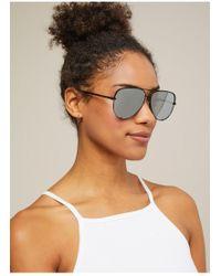Miss Selfridge - Quay Australia High Key Silver Aviator Sunglasses - Lyst