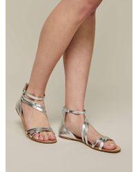 Miss Selfridge PAZ MULTI TASSEL - Sandals - metallic uUzs0