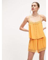 Miss Selfridge Orange Circle Trim Shorts