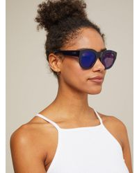 Miss Selfridge - Quay Australia If Only Navy Round Sunglasses - Lyst