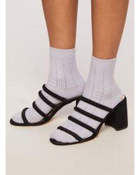 Miss Selfridge - Lilac Sparkle Ribbed Socks - Lyst
