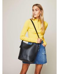 Miss Selfridge - Western Buckle Unlined Bucket Bag - Lyst