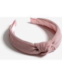 Miss Selfridge - Pink Pleated Headband - Lyst