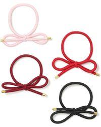 Miss Selfridge - Multi Bow Hair Pack Pink - Lyst