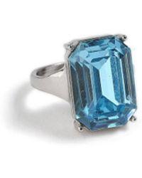 Miss Selfridge - Aquamarine Ring - Lyst