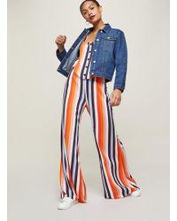Miss Selfridge - Rainbow Striped Button Trousers - Lyst