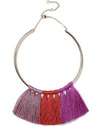 Miss Selfridge | Tonal Tassel Necklacee | Lyst