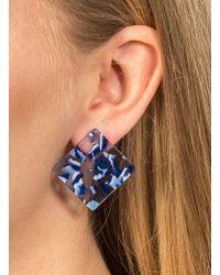 Miss Selfridge | Square Perspex Stud Earrings | Lyst
