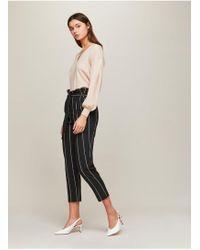 Miss Selfridge - Striped Paper Bag Trousers - Lyst