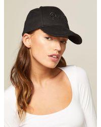 Miss Selfridge - Black Baseball Cap - Lyst
