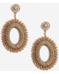 Miss Selfridge - Gold Beaded Drop Earrings - Lyst