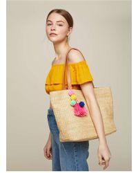 Miss Selfridge - Natural Tassel Straw Tote Bag - Lyst