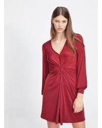 67f184931c3 Lyst - Miss Selfridge Black Jersey Frill Wrap Dress in Black