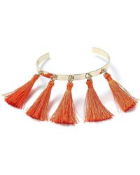 Miss Selfridge - Orange Tassel Fringe Arm Cuff - Lyst