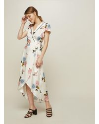 Miss Selfridge - Clara Vintage Wrap Dress - Lyst