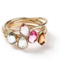 Miss Selfridge - Ring Multi-pack - Lyst