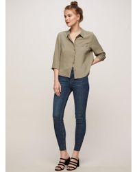 Miss Selfridge - Lizzie High Waist Skinny Dark Blue Jeans - Lyst