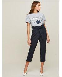 Miss Selfridge - Petite Paper Bag Trousers - Lyst