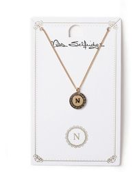 Miss Selfridge - N Initial Round Ditsy Necklace - Lyst