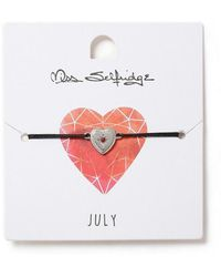 Miss Selfridge - July Heart Birthstone Wristwear - Lyst