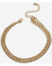 Miss Selfridge - Rhinestone Chain Anklet - Lyst