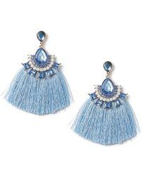 Miss Selfridge - Statement Jewelled Tassel Earrings - Lyst