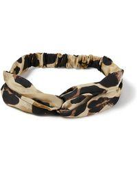 Miss Selfridge - Leopard Headband - Lyst