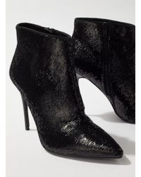 Miss Selfridge - Black Ailise Sequin Stiletto Boots - Lyst