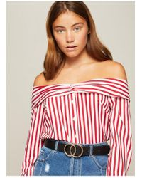 Miss Selfridge - Black Circle Jeans Belt - Lyst