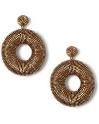 Miss Selfridge - Mega Beaded Earrings - Lyst