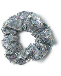 Miss Selfridge - Silver Sequin Scrunchie - Lyst