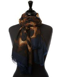 Moda In Pelle - Learascarf Navy Fabric - Lyst