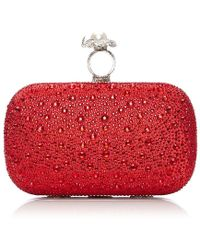 Moda In Pelle - Katrinaclutch Red Satin - Lyst