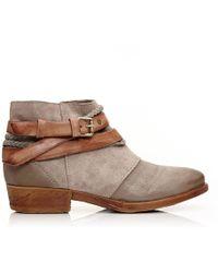 Moda In Pelle - Crysi Grey Leather - Lyst