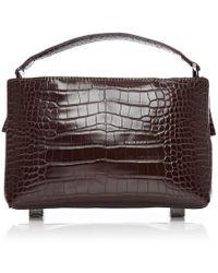 Moda In Pelle - Dionbag Burgundy Mocc Croc - Lyst