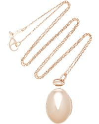 Monica Rich Kosann - Anna 18k Rose Gold Locket Necklace - Lyst