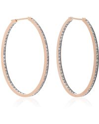 Sylva & Cie | 14k Rose Gold Diamond Earrings | Lyst