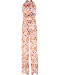 Seren London - Soiree Jumpsuit In Prism Print - Lyst