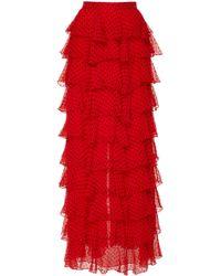 Rodarte - Polka Dot Ruffle Skirt - Lyst